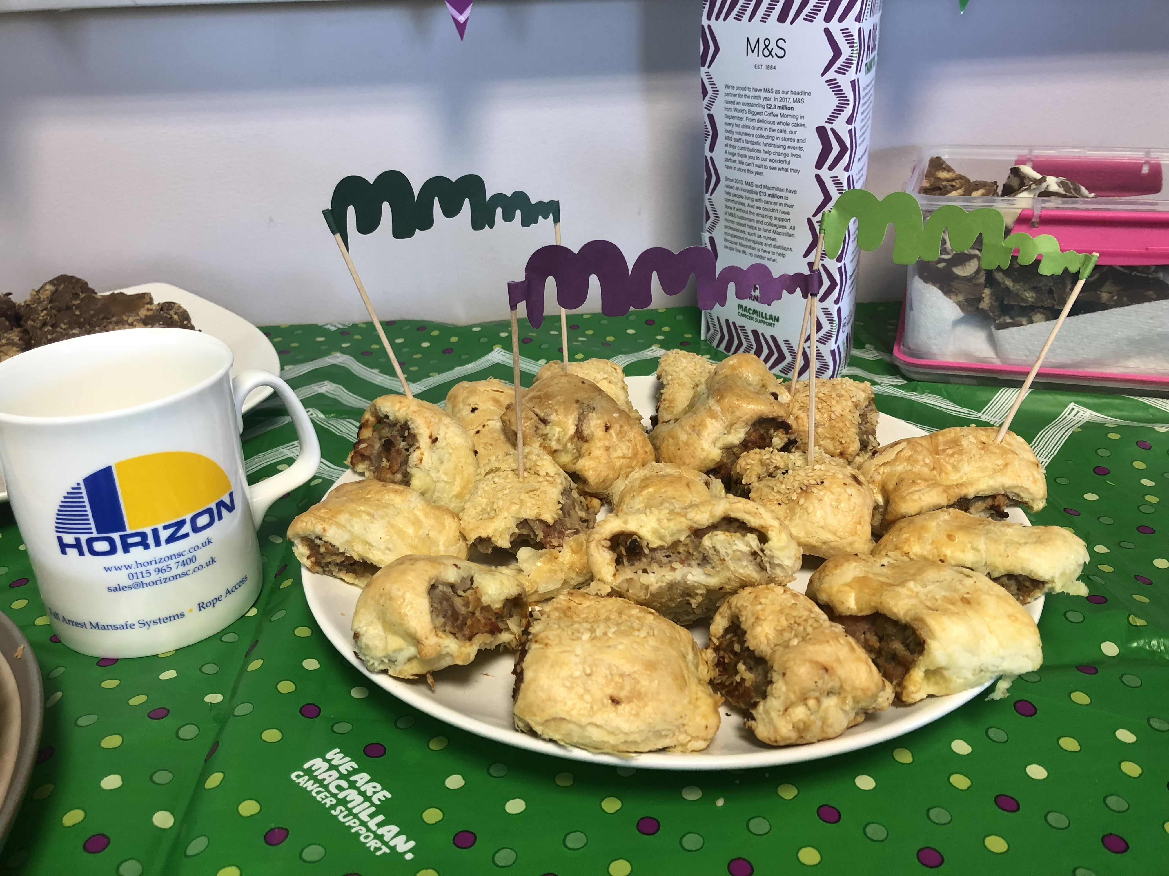 Macmillan Coffee Morning at Horizon Steeplejacks!